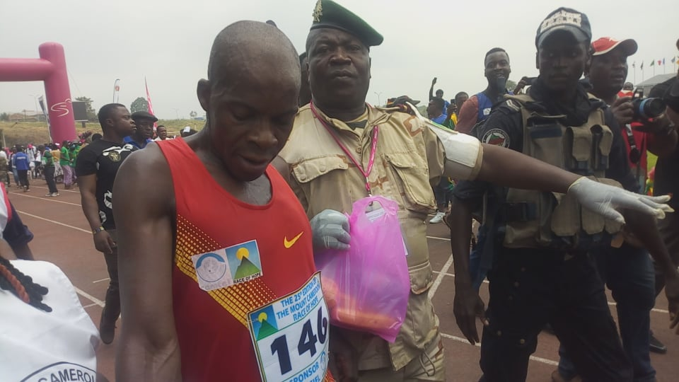 Golove Gabsibium is the winner of the 2020 Mt Cameroon Race of Hope